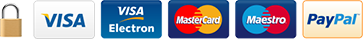 Visa, Visa Electron, Mastercard and Maestro accepted