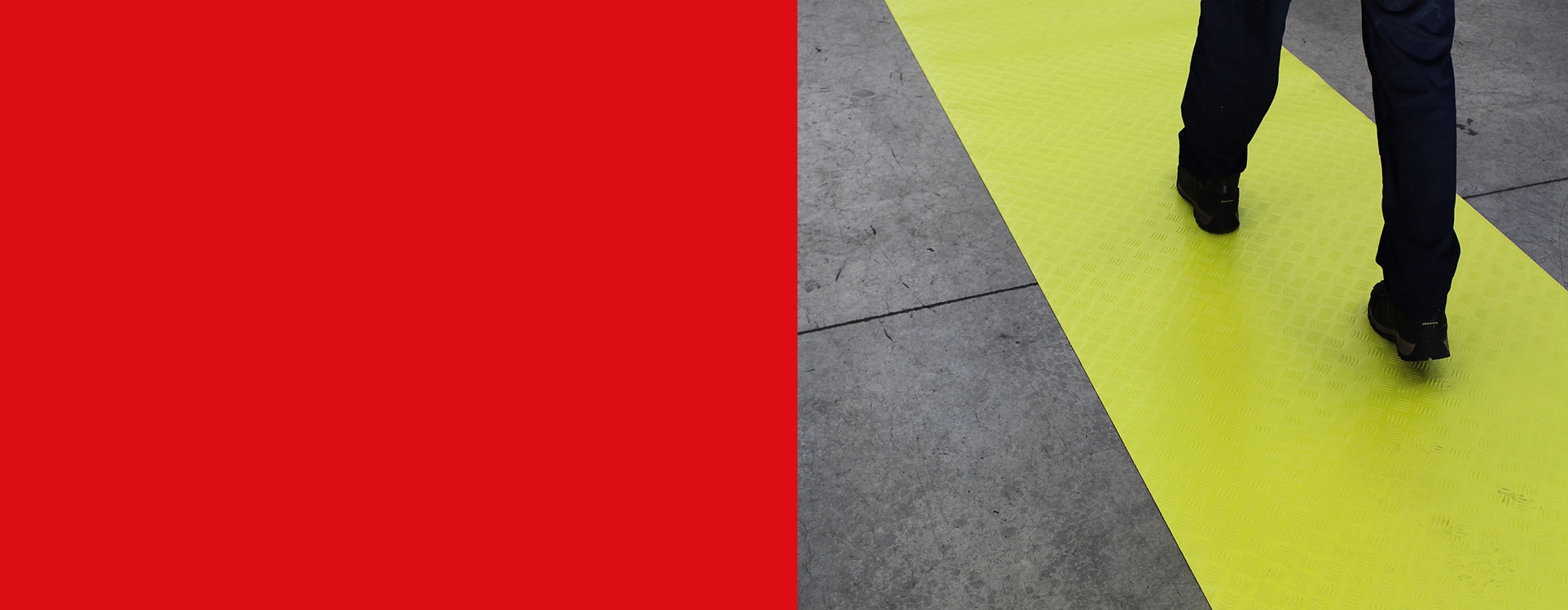YELLOW MATTING with high visibility & Excellent anti-slip properties