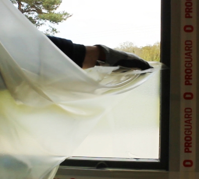 How to protect windows with Peelable Window Protection?