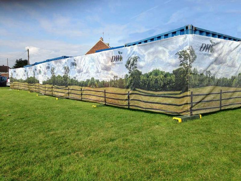 Custom Printed Fence Screening
