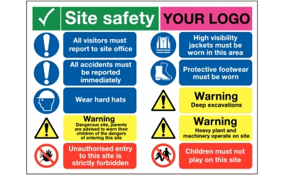 Bespoke Construction Safety Signs