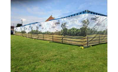 Custom Printed Vented Fence Screening